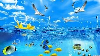 Desktop Hintergrundbilder   3D Fische Desktop 1920x1080
