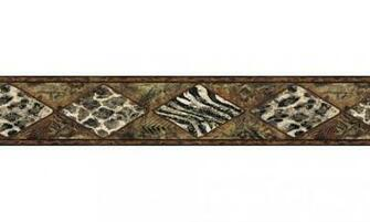 Home Vintage Borders Animal Print Wallpaper Border B30017