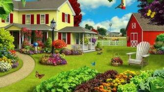 Green Acres Farm Wallpaper