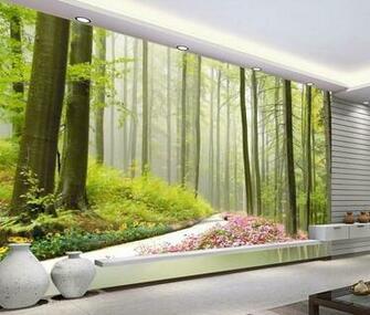 New large wallpaper Custom wallpaper HD forest landscape mural wall