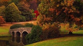 Bridge Fall Nature Autumn Wallpaper Forest Hd   Autumn Fall