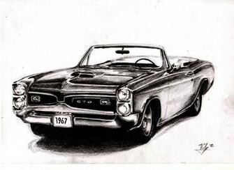 Pontiac GTO 1967   drawing sketch by mastervali