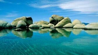 Download 1920x1080 HD Wallpaper adriatic sea stone clear water