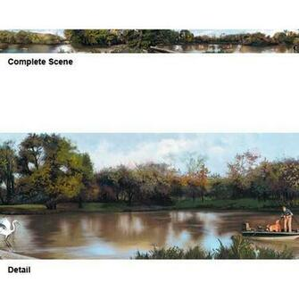 Fishing Scenic XL Wallpaper Border Section Two