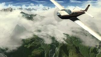 Flight Simulator X Wallpaper in 1366x768
