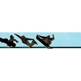 258B75067 9 Inch Wide by 10 Foot Long Snowboarding Wall Border