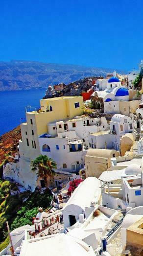 Santorini Greece Wallpaper iPhon HD Wallpaper Background Images