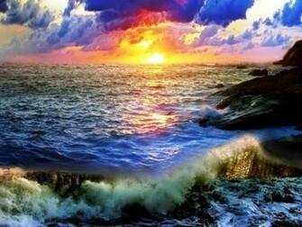 OCEAN SUNSET Wallpaper Walltor