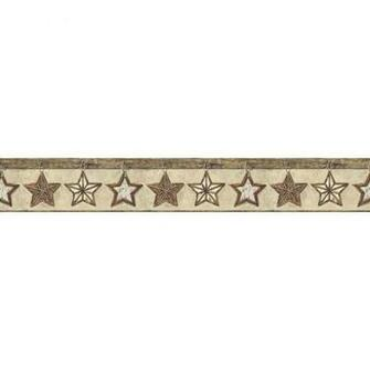 Lodge Twig Stars Border   Wallpaper Border Wallpaper inccom