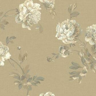 Grey and Beige Whitworth Peony Wallpaper   Wall Sticker Outlet