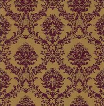 Wallpaper Large Deep Burgundy and Gold Metallic Victorian Damask