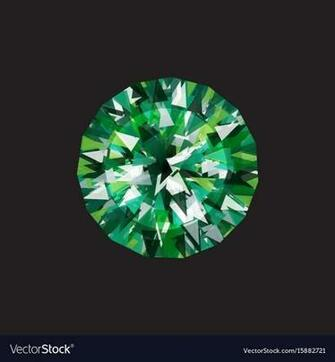 Emerald on a black background Royalty Vector Image
