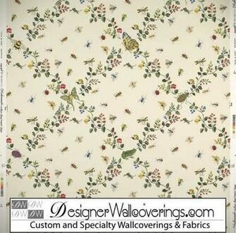 Bug Trellis Lattice Wallpaper [PAL 42076] Designer Wallcoverings