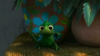Pascal the Cute Chameleon from Disneys Tangled wallpaper   Click