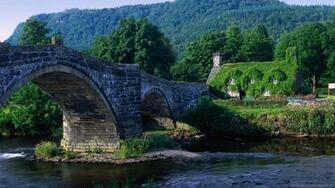 Download 1600x900 Arch Bridge Wales UK Wallpaper