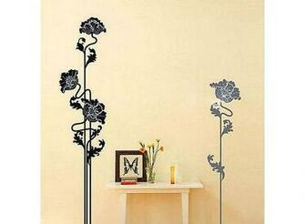 Flower Pattern Graffiti Removable Wallpaper JH083 Buy at lowest
