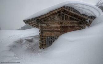 Download wallpaper winter drifts snow cabin desktop wallpaper