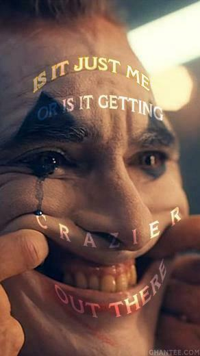 joker 2019 is it getting crazier poster joaquin phoenix Ghantee