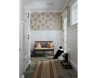shiplap panelling wallpaper Foyers Stairs and halls Pinterest