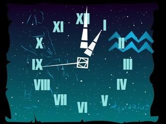 Aquarius Clock ScreenSaver at Download 64 Themes Wallpaper