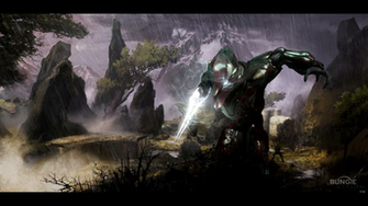 1024x576px Halo 4 Elite Wallpaper
