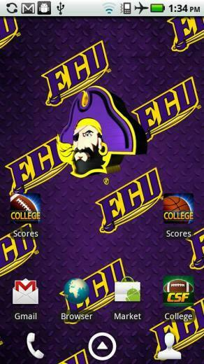 east carolina pirates live wallpaper with animated 3d logo background