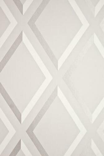 Pompeian Trellis Wallpaper Geometric light Grey and White diamond