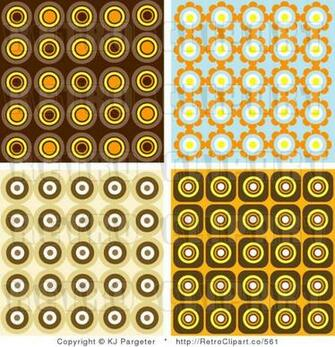 Royalty Retro Wallpaper Pattern Backgrounds of Orange Brown and