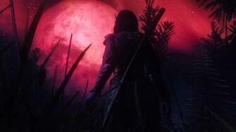 warrior magic dark Moon elf fantasy Wallpapers
