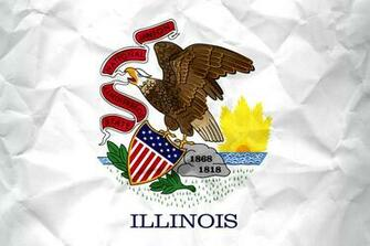 Flag of Illinois with Paper Texture   Download it for