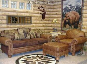 Log Cabin Wallpaper Real Log Rustic Lodge