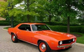 69 Chevy Camaro chevrolet orange vintage chevy 69 classic camaro