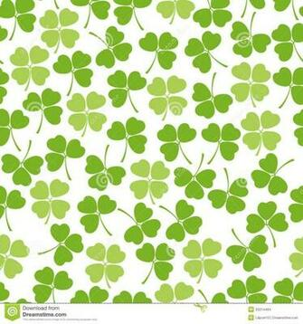 Irish Clover Background Seamless clover background stock images
