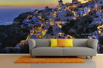 Wall Murals Cities Canvas Prints Posters   Santorini Island 2327en