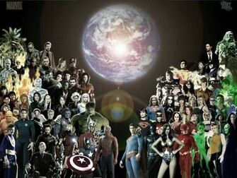 DC VS MARVEL Vetor   ForWallpapercom