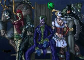 Batman joker harley quinn scarecrow poison ivy batman arkham