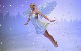 FREE Winter Angel Widescreen and Standard SCREENSAVER