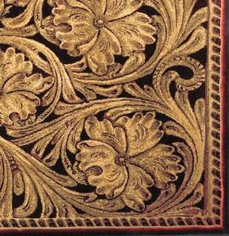 Tooled Leather Patterns Tooled leather rug closeup jpg