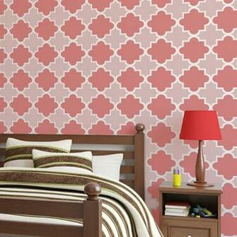 Moroccan Tiles Stencils Anne   reusable for walls just like wallpaper