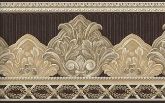 Wallpaper border elegant brown and beige scroll ebay