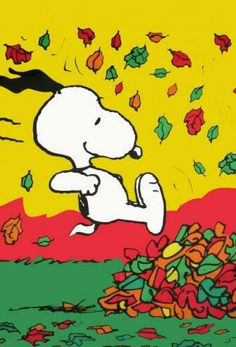wwwetsycomlisting32408769snoopy peanuts fall fun in leaves cotton