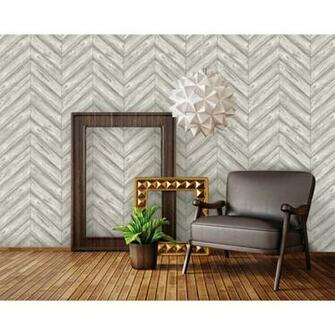 Herringbone Self Adhesive Removable Textured Wallpaper Ash 205x33