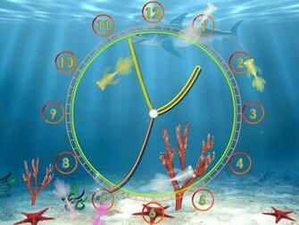 Aquarium Clock screensaver always know the current time with fun