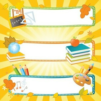 School style vector backgrounds set 01   Vector Background