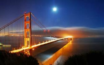 San Francisco Bridge Night Lights Wallpapers HD Wallpapers
