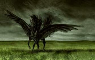 Dark fantasy wallpaper magic horse