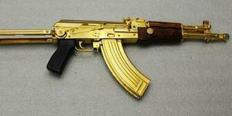 kalashnikov s ak 47 the rifle is gold plated and was seized during