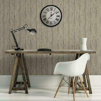 Get the look of reclaimed wood with this stylish faux wood wallpaper