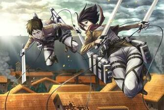Mikasa Ackerman Anime Sword Blade HD Wallpaper Desktop Background