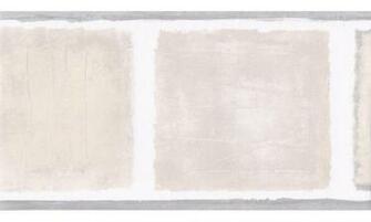 Home Grey Beige Squares Wallpaper Border
